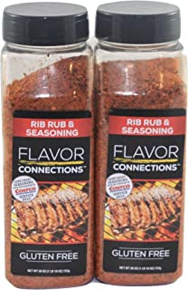 2 pack Rib Rub and BBQ Seasoning (26 Oz Professional Pack) - No MSG Gluten Free - 1 LB 10 OZ, 737g - Excellent Seasoning for Beef, Chicken, Lamb, Fish, and Vegetables (2 count)