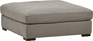 Stone & Beam Lauren Down Filled Oversized Ottoman with Hardwood Frame, 46.5