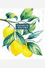 Deluxe Recipe Binder - Favorite Recipes (Lemons) Hardcover