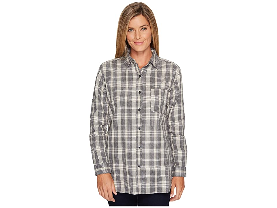 The North Face Long Sleeve Boyfriend Shirt (TNF Medium Grey Heather Plaid) Women