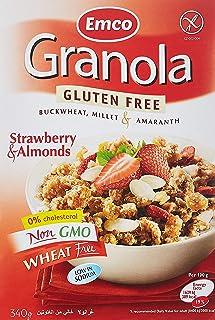 Emco Gluten Free Granola, Strawberries and Almonds, 340 gm