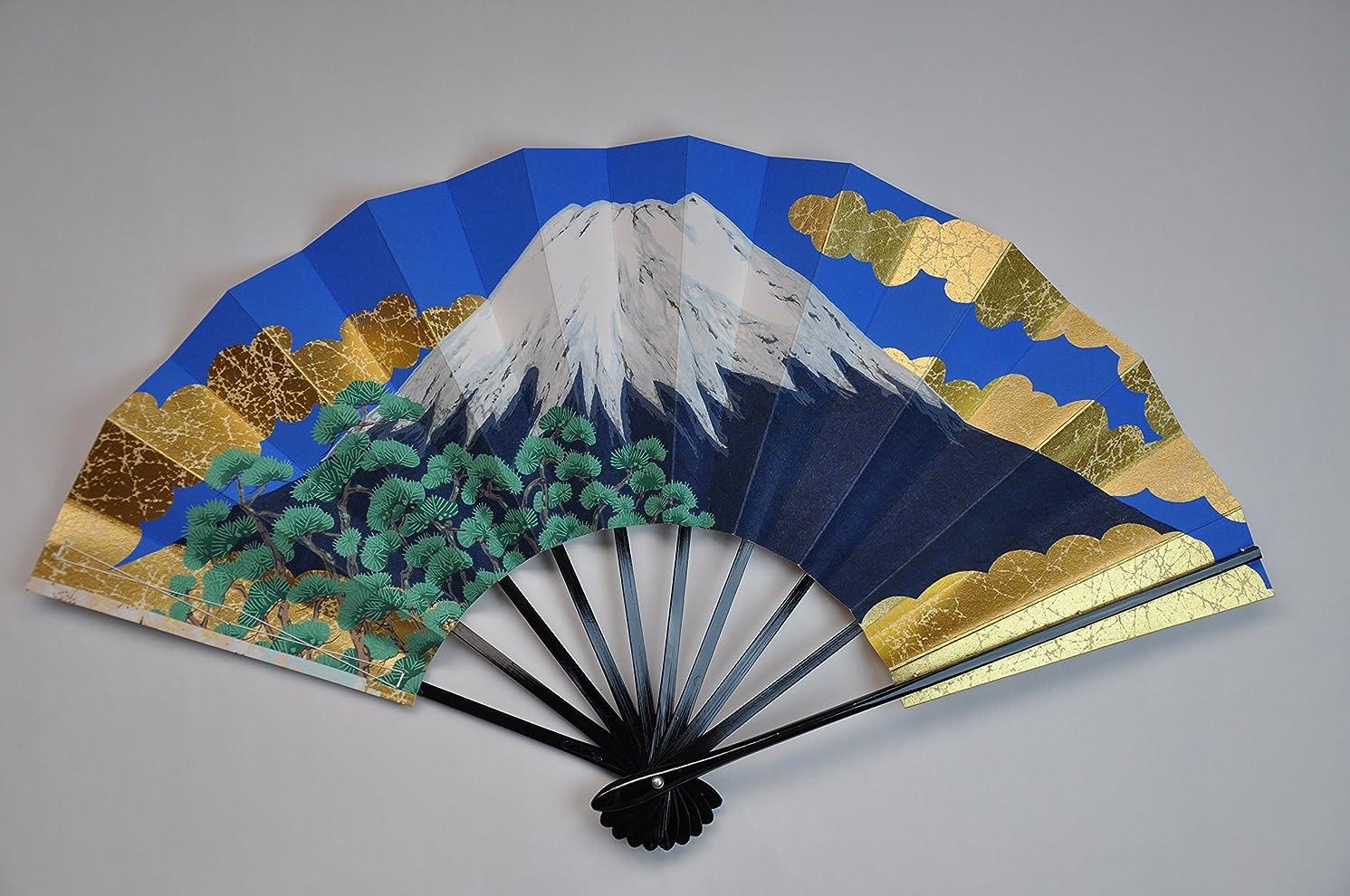 グラフィック表面的なペルセウス〈京扇子〉飾り扇子 富士山/桜 扇子立て付き 箱入り