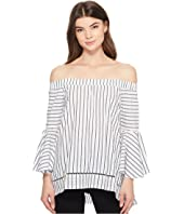ROMEO & JULIET COUTURE - Off the Shoulder High-Low Blouse