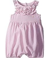 Ralph Lauren Baby Ruffled Gingham Cotton Romper (Infant)