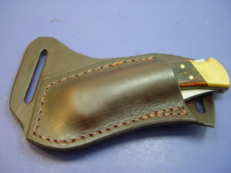 Rapid rise Custom Leather Left Hand Cross Albuquerque Mall Draw Knife Pocket For Bu Sheath a