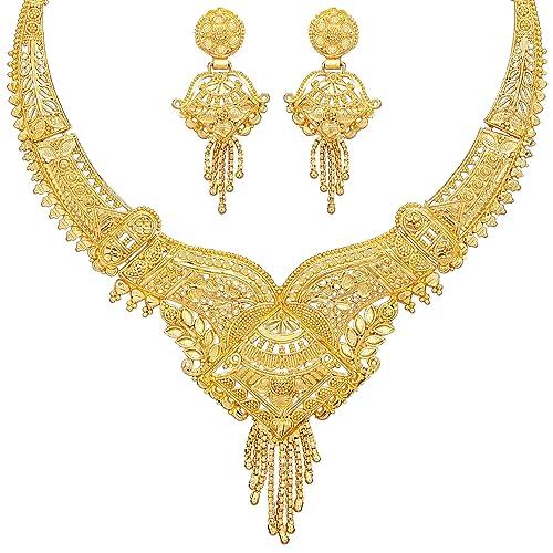 1 Gram Gold Necklace Set Buy 1 Gram Gold Necklace Set Online At
