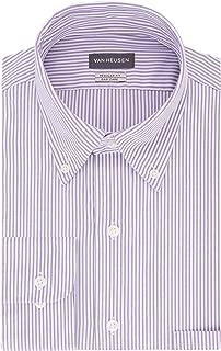 Men's Pinpoint Regular Fit Stripe Button Down Collar Dress Shirt