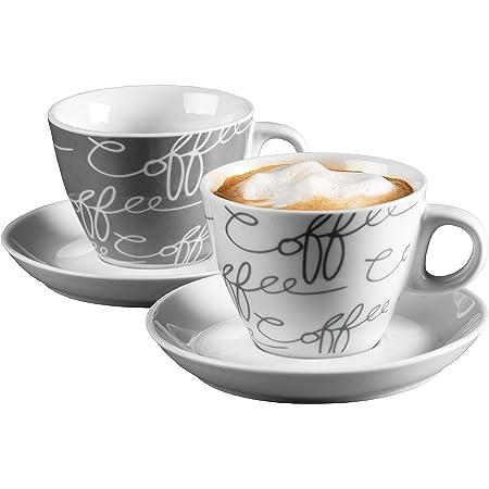 Ritzenhoff & Breker 005776 Cornello Set de Tasses à Cappuccino 4 pièces Gris