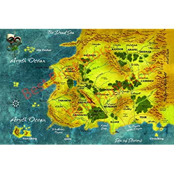 Amazon Com Best Print Store Wheel Of Time Map Of Randland Poster Revised Version Dec 13 2018 24x36 Inches Posters Prints