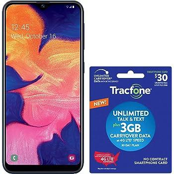 Tracfone Samsung Galaxy A10e 4G LTE Prepaid Smartphone (Locked) - Black - 32GB - SIM Card Included - CDMA - with $30 Airtime Bundle