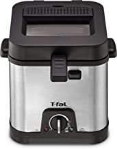 T-fal FF492D Stainless Steel 1.2-Liter Oil Capacity Adjustable Temperature Mini Deep..