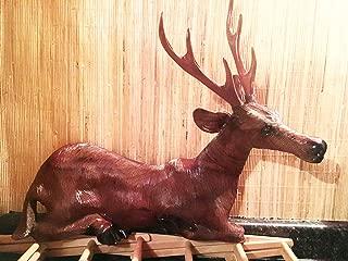 Indonesian Carving Deer Wall Sculptures