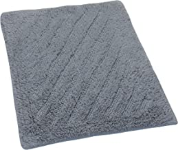 Castle Hill Shooting Star Reversible Bath Rug, 22 by 60-Inch, Silver