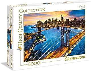 Clementoni Adult Puzzle The New York, Multi-Colour, 3000 Pieces