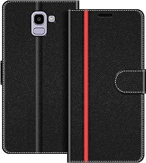 COODIO Custodia per Samsung Galaxy J6 2018, Custodia in Pelle Samsung Galaxy J6 2018, Cover a Libro Samsung J600 Magnetica...