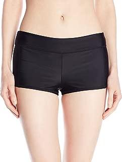 Speedo Women's PowerFLEX Eco Solid Boyshort Bikini Bottom Swimsuit
