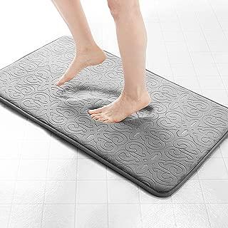 Genteele Memory Foam Bathroom Rugs Non-Slip Absorbent Bath Mat Rug Carpet, Machine Wash and Dry, Embossed Soft Velvet Plush Surface (17