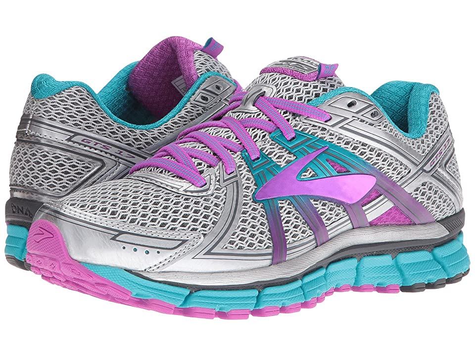 Brooks Adrenaline GTS 17 (Silver/Purple Cactus Flower/Bluebird) Women
