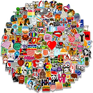 200pcs Stickers for Water Bottles Laptop Bumer Cars, Random Cool Stickers for Adults Teens Kids, Aesthetic Stickers Pack for Skateboard, Durable Vinyl Waterproof Sticker