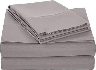 AmazonBasics Light-Weight Microfiber Sheet Set, Cal King, Dark Grey