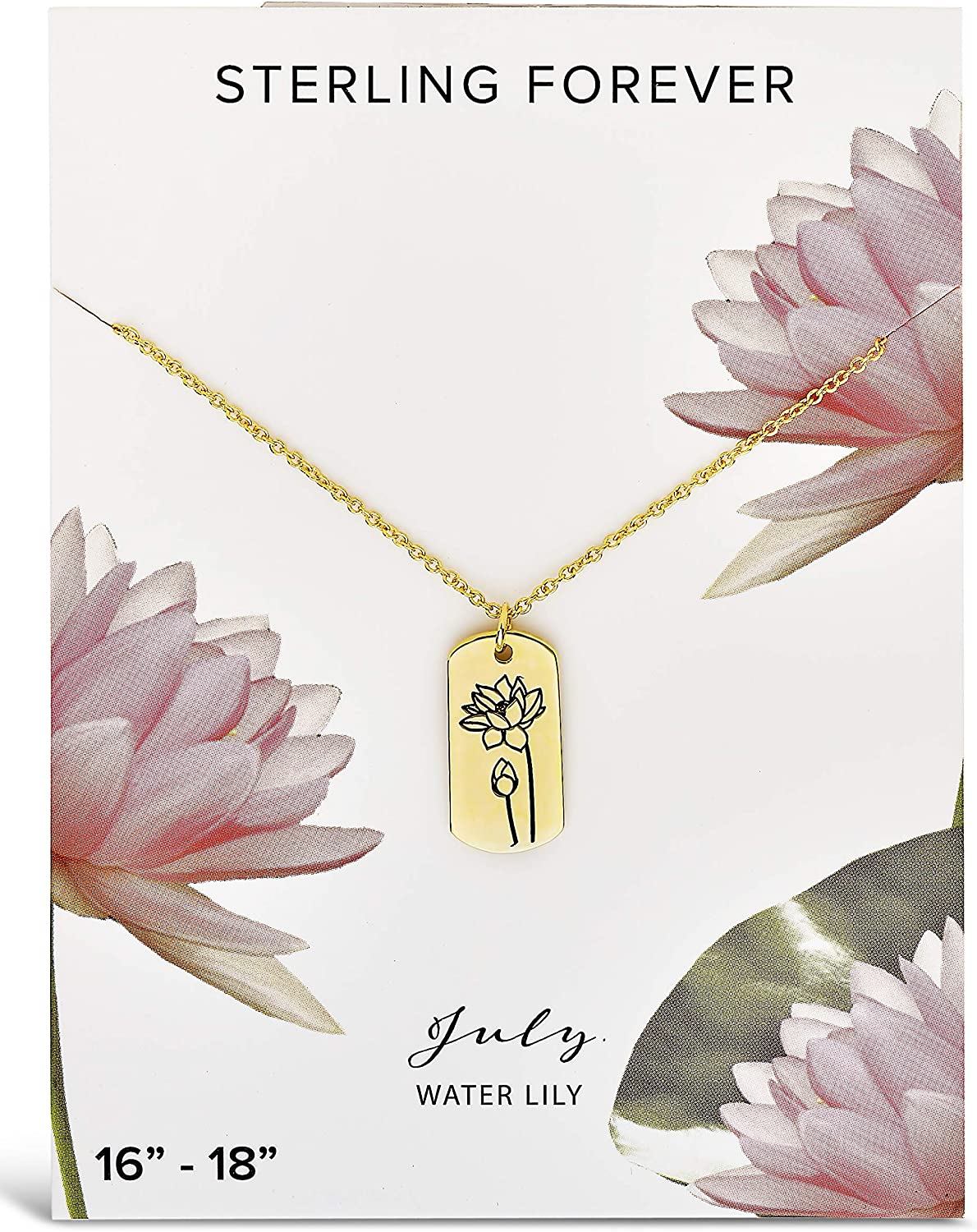 Sterling Forever -Birth Month Inexpensive Flower Our shop OFFers the best service Trendy Women's B – Necklace