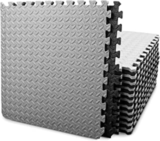 BEAUTYOVO Puzzle Exercise Mat with 12/24 Tiles Interlocking Foam Gym Mats, 24''..