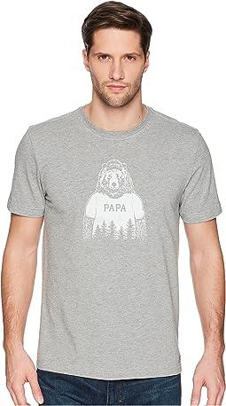 Life is Good Papa Bear Crusher Tee