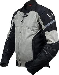 Pilot Motosport Men's Direct Air Mesh Motorcycle Jacket (V3) (Silver, Medium)