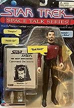 18cm Commander William Riker Action Figure - Star Trek Space Talk Series - Hear Jonathan Frakes' Actual Voice Speaking