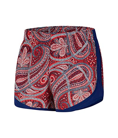 Nike Tempo Shorts Paisley (Track Red/Deep Royal Blue/White) Women