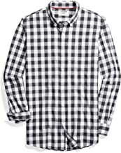 Amazon Brand - Goodthreads Men's Slim-Fit Long-Sleeve Gingham Plaid Poplin Shirt