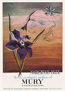 1946 Print Ad Parfums Mury Narcisse Bleu Perfume by Theo Tobiasse