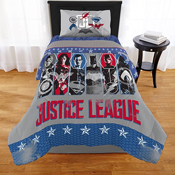 Justice League Movie 2017 6pc Full Comforter And Sheet Set Bedding Collection