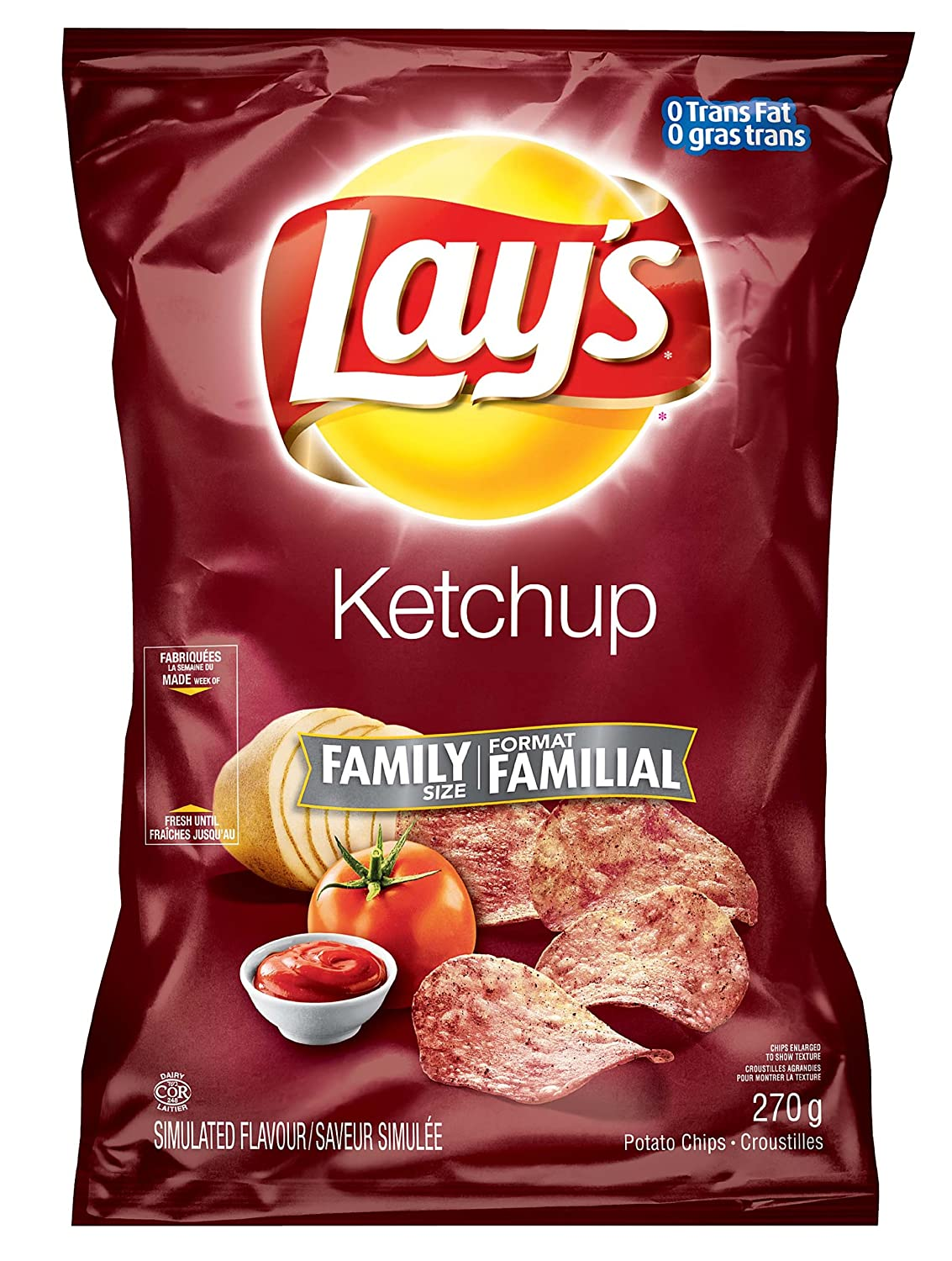 Canadian Lays Potato Chips Ketchup Large Family All items free shipping - 3 size Pack Popular products