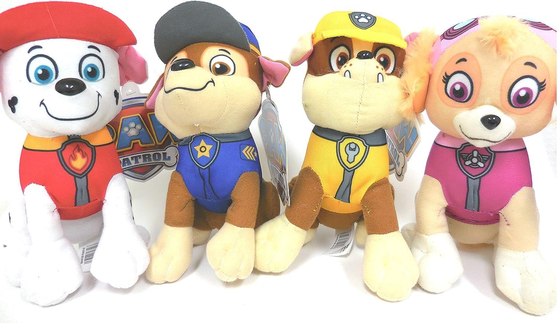 Paw Patrol Plush Pup Pal 4 Pcs Character Plush Set Marshall Chase Rubble Skye 9 Medium Plush Doll