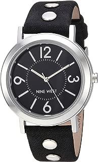 Nine West NW2059BKBK Reloj Análogo para Mujer, color Negro