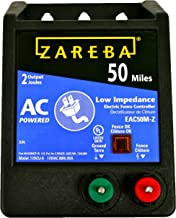 Zareba EAC50M-Z AC-Powered Low-Impedence 50-Mile-Range Electric Fence Charger