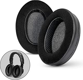 Brainwavz Hybrid Memory Foam Earpad - Black PU/Velour - Suitable for Large Over The Ear Headphones - AKG, HifiMan, ATH, Philips, Fostex