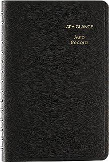 AT-A-GLANCE Livro de registro de quilometragem automática, 9,5 x 16,3 cm, preto (AAG8013505)