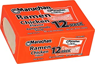 Maruchan Chicken Flavor Ramen Noodle Soup 12-3 oz. Box