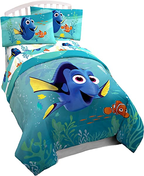 Disney Pixar Finding Dory Stingray Twin Comforter Super Soft Kids Reversible Bedding Features Dory And Nemo Fade Resistant Polyester Microfiber Fill Official Disney Pixar Product