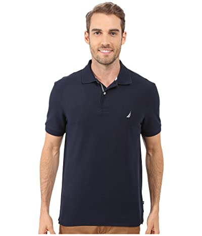 Nautica S/S Solid Polo With Tape (Navy) Men
