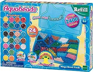 Aquabeads - La Mega Recharge 2400 Perles - 79638 - Recharge Perles Assorties - Loisirs Créatifs