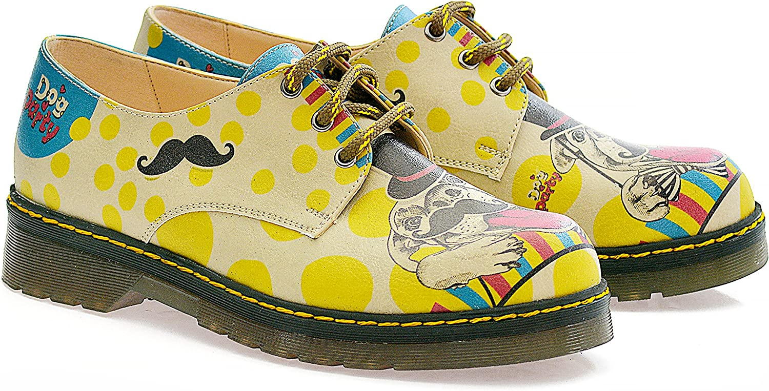 GOBY Women's shoes ''Party Dog Pattern Dr.shoes'' MOX104