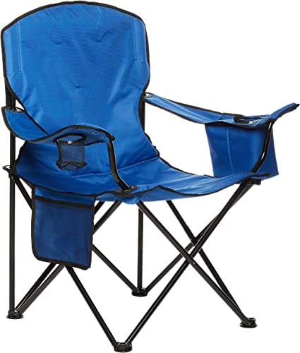 AmazonBasics Extra Large Padded Folding Outdoor Camping Chair with Bag - 38  x 24 x 36 Inches, Blue : Amazon.ca: Sports & Outdoors