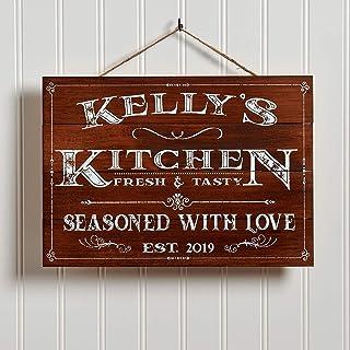 Artblox Personalized Wooden Kitchen Wall Decor | Farmhouse Kitchen Decor | Last Name..