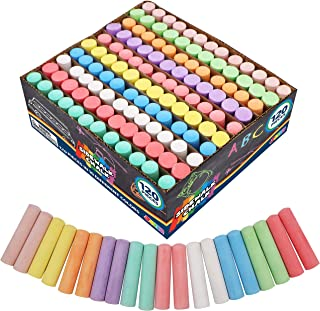 مجموعة طباشير رصيف جامبو غير سامة قابلة للغسل من جوان 120 عبوة من جوان في 10 ألوان (120 قطعة)