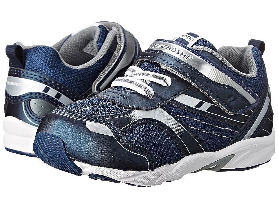 Tsukihoshi Kids Sport (Toddler) (Navy/Silver) Boys Shoes