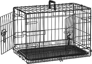 AmazonBasics - Jaula plegable de metal para mascota (dos
