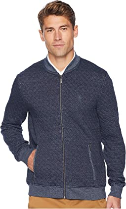 Long Sleeve Quilted Jasper Full Zip Track Jacket